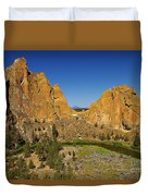Crooked River At Smith Rock State Park Oregon  Duvet Cover