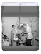 Dentist Working Patient October 18 1962 Black Duvet Cover