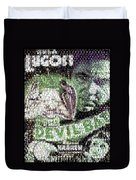 Devil Bat Movie Poster Horror Mosaic Duvet Cover
