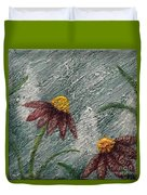 Flowers In The Breeze Duvet Cover