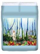 Forest Of Divine Light Duvet Cover