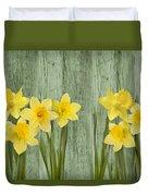 Fresh Spring Daffodils Duvet Cover