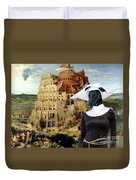 Galgo Espanol - Spanish Greyhound Art Canvas Print -the Tower Of Babel  Duvet Cover