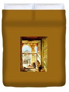 Gate Of The Great Mosque. Damascus Duvet Cover