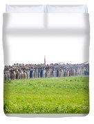 Gettysburg Confederate Infantry 0157c Duvet Cover
