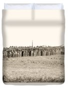 Gettysburg Confederate Infantry 0157s Duvet Cover