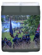 Gettysburg Union Artillery And Infantry 7459c Duvet Cover