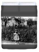 Girl Tomato Patch 1950s Black White Archive Kids Duvet Cover