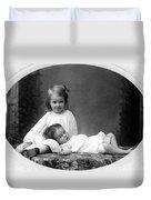 Girls Posing June 30 1905 Black White 1900s Duvet Cover