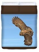 Great Gray Owl Plumage Patterns In-flight Duvet Cover