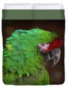 Great Green Macaw Ara Ambiguus Duvet Cover