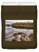 Haukkajarvi Landscape Duvet Cover