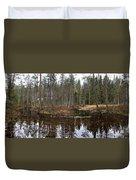 Haukkajoki Panorama 1 Duvet Cover