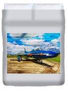 Hawker Hunter T7 Aircraft On Wood Duvet Cover