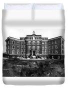 Hospital 1912 Black White 1910s Archive Brick Duvet Cover