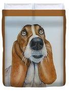 Hound Dog Eyes Duvet Cover