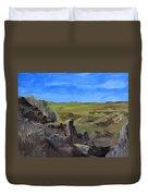 Hunters Overlook Badlands South Dakota Duvet Cover