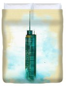 Illustration Of  Trump Tower Duvet Cover