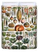Illustration Of Vegetable Varieties Duvet Cover