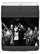 Jack Dempsey In Naval Uniform People Caveman Duvet Cover