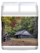 Jim Bales Place Barn Along Roaring Fork Motor Trail Duvet Cover