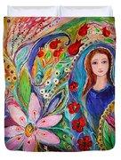 Leah And Flower Of Mandragora Duvet Cover