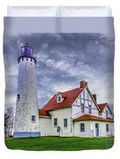 Lighthouse At Point Iroquois Duvet Cover