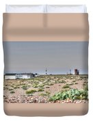 Lights On At The Lighthouse Duvet Cover
