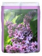 Lilacs On A Misty Morning Duvet Cover