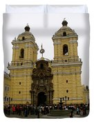 Lima Peru Church Duvet Cover