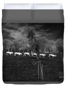 Line Of Cows Duvet Cover