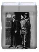 Men Males In Suits Standing Doorway June 1927 Duvet Cover