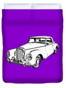 Mercedes Benz 300 Luxury Car Drawing Duvet Cover