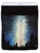 Milky Way At Night Duvet Cover