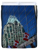 Modern Architecture - City Reflection Vancouver  Duvet Cover