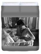 Mother Baby 1910s Black White Archive Bassinet Duvet Cover