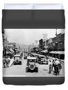 National Guard Unit In Town Circa 1925 Black Duvet Cover