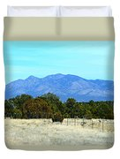 New Mexico Mountains Duvet Cover