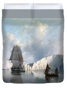 Off The Needles. Isle Of Wight Duvet Cover