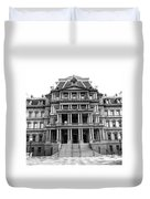 Old Executive Office Building Bw Duvet Cover