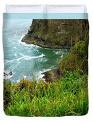 Oregon's Seaside Cliffs In Springtime Duvet Cover