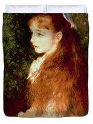 Portrait Of Mademoiselle Irene Cahen D'anvers Duvet Cover