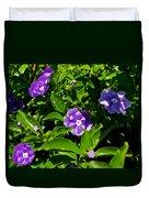 Purple Flowers In Pilgrim Place In Claremont-california Duvet Cover