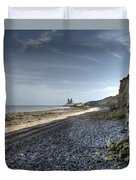 Reculver From Bishopstone Beach Duvet Cover