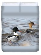 Red-breasted-merganser-ducks Duvet Cover