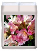 Rhododendron In Pink  Duvet Cover