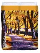 Road Of Golden Beauty Duvet Cover
