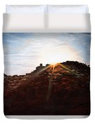 Silhouetted Mountain Duvet Cover