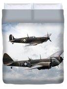 Spitfire And Blenheim Duvet Cover