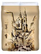 St. Nicholas Church In Prague Duvet Cover